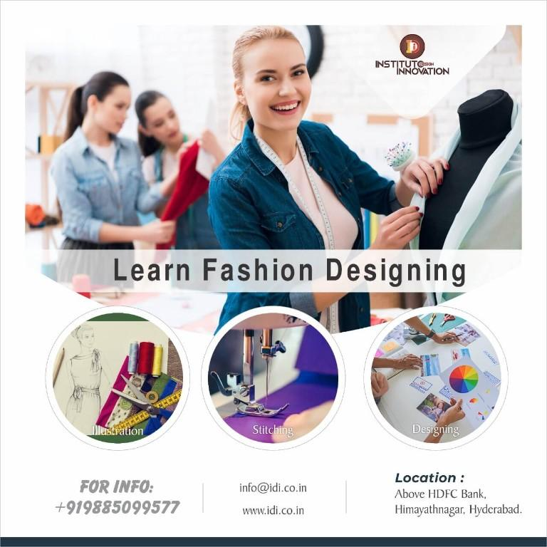 Idi The Best Fashion Designing Institute In Hyderabad India May 3rd Aug 31st